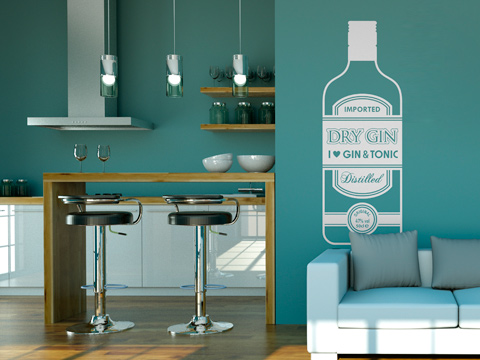I love Gin Tonic- Vinilo Decorativo Cocina